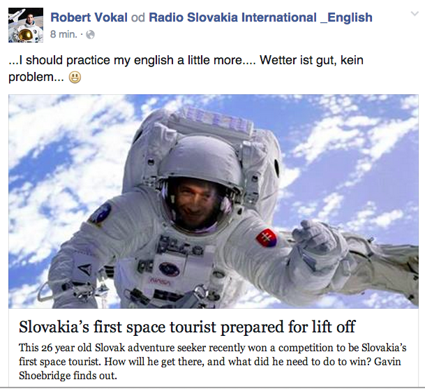 First SLovak Astronaut